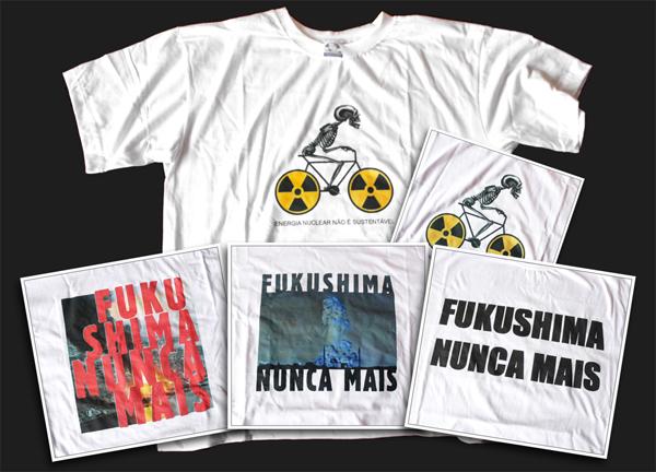 Camisetas Fukushima Nunca Mais