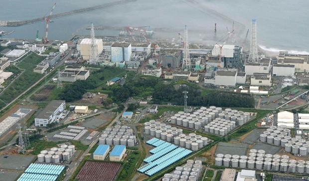 Vista áerea da usina de Fukushima